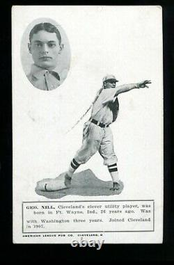 1908 American League Publishing Co. Postcard George Nill GD marked RARE