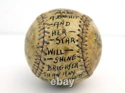 1910 Reach Official American League Baseball Inscribed by Billy Evans OAL Ball