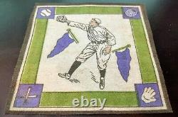 1914 B18 Blanket Baseball Tobacco Felt Shoeless Joe Jackson Purple Pennants RARE