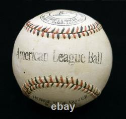 1917-18 War Department CTCA American League Baseball manufactured by Wilson