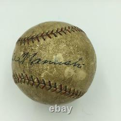 1925 Heinie Manush Single Signed Home Run Game Used American League Baseball JSA