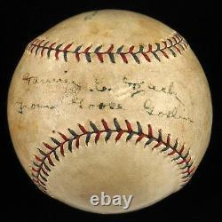1927 Goose Goslin Single Signed Autographed American League Baseball JSA COA