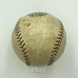 1931 Cleveland Indians Team Signed Official American League Baseball JSA COA