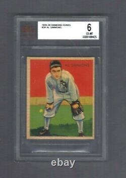1934-36 Diamond Stars #2 Al Simmons HOF BVG 6 EX-MT