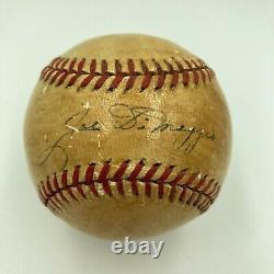 1936 Joe Dimaggio Rookie Single Signed American League Harridge Baseball JSA COA