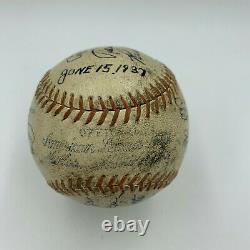 1937 Detroit Tigers Team Signed American League Baseball Hank Greenberg JSA COA