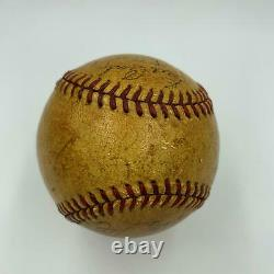 1940 New York Yankees Team Signed American League Baseball Joe Dimaggio JSA COA