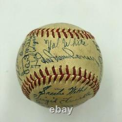 1947 Detroit Tigers Team Signed Official American League Baseball With 30 Sigs