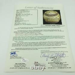 1949 Cleveland Indians Team Signed Game Used American League Baseball JSA COA