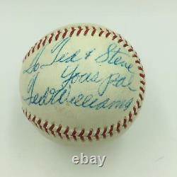 1950's Ted Williams Signed Official American League Harridge Baseball JSA COA