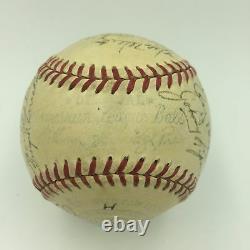 1951 Detroit Tigers Team Signed American League Baseball PSA DNA COA