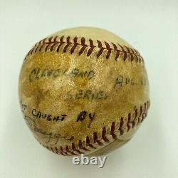 1951 Joe Dimaggio Signed Final Out Game Used American League Baseball PSA DNA