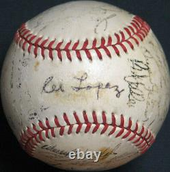 1953 Cleveland Indians Team Signed American League Baseball With JSA COA