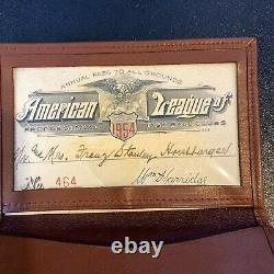 1954 American League Baseball Annual Pass All Parks Signed By William Harridge