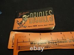 1954 Baltimore Orioles Spalding American League Schedule Booklet Baseball Book