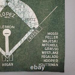 1954 Cleveland Indians American League Champions Pennant / Felt Banner Green