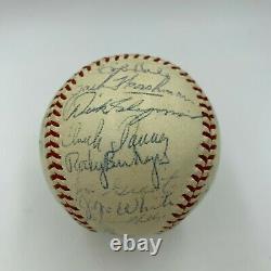 1958 Cleveland Indians Team Signed American League Baseball With Joe Gordon