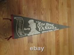 1960 NEW YORK YANKEES American League Champions 30 Pennant STENGEL MANTLE MARIS