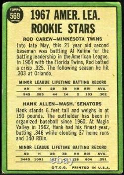 1967 ROD CAREW / HANK ALLEN Topps American League Rookie Stars #569 Twins