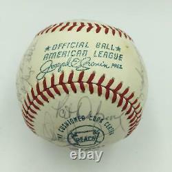 1971 Baltimore Orioles American League Champs Team Signed Baseball With JSA COA