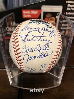 1975 Boston Red Sox American League Champs 21 Autos Signed Baseball PSA/JSA COA