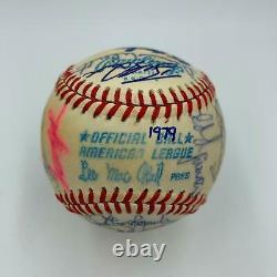 1979 New York Yankees Team Signed American League Baseball JSA COA