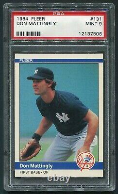 1984 Fleer Don Mattingly #131 Rc Rookie Card New York Ny Yankees Mint Psa 9