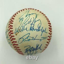 1990 Oakland A's Athletics American League Champs Team Signed Baseball JSA COA