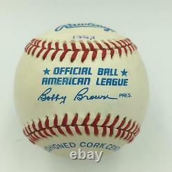 1993 Derek Jeter Pre Rookie Signed American League Baseball Beckett COA