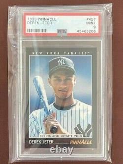 1993 Pinnacle Derek Jeter Card # 457 Rookie PSA 9 HOF Yankees