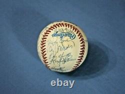1995 American League All Star team autographed baseball 22 bold signatures ex-mt
