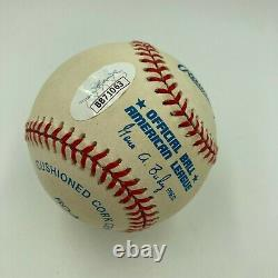 1996 Derek Jeter Rookie Signed Official American League Baseball With JSA COA