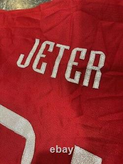 1999 MAJESTIC DEREK JETER AMERICAN LEAGUE ALL STAR MLB BASEBALL JERSEY Sz M