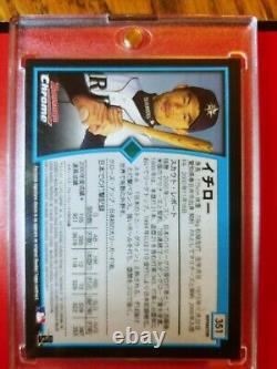 2001 Ichiro Suzuki Bowman Chrome Rc #351 Japanese Version