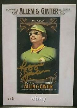 2021 Allen Ginter X Reggie Jackson Framed Mini Auto #2/5