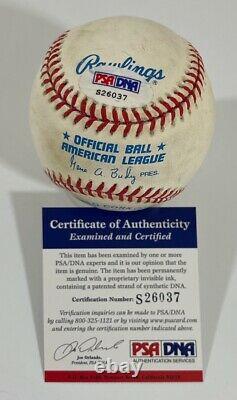 Alex Rodriguez Ken Griffey Jr Signed American League Baseball PSA S26037