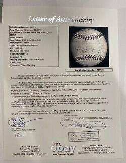 Babe Ruth, Lou Gehrig signed official american league baseball JSA