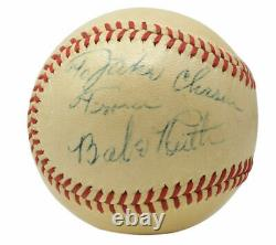 Babe Ruth Signed 1946-47 American League Baseball withCase PSA AH011340