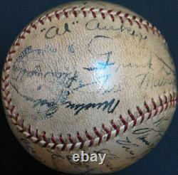 Beautiful 1934 Detroit Tigers American League Champs Team Signed Baseball PSA
