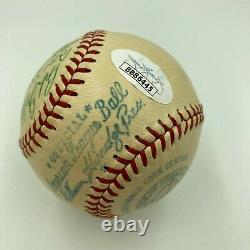 Beautiful 1949 Cleveland Indians Team Signed American League Baseball JSA COA