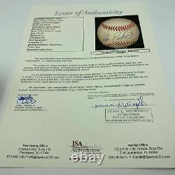 Beautiful Dale Earnhardt Sr. Signed American League Baseball With JSA COA