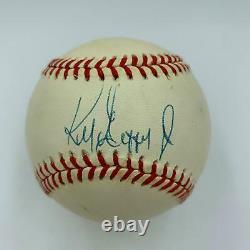 Beautiful Ken Griffey Jr. 1989 Rookie Signed American League Baseball JSA COA