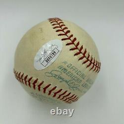Beautiful Lefty Grove Sweet Spot Signed 1950's American League Baseball JSA COA