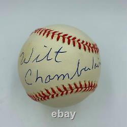 Beautiful Wilt Chamberlain Single Signed American League Baseball With JSA COA