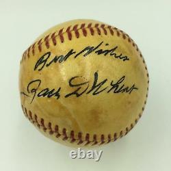 Beautiful Zack Wheat Single Signed American League Harridge Baseball JSA COA HOF