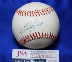 Bo Jackson JSA Coa Autograph American League OAL Signed BasebaLL