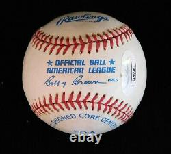 Bob Uecker Brewers Broadcaster Signed American League Baseball JSA Authenticated