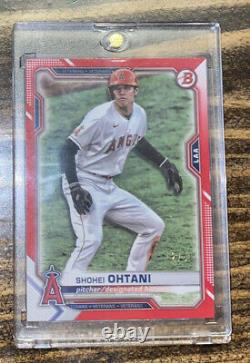 Bowman 2021 Shohei Ohtani Paper red parallel 2/5