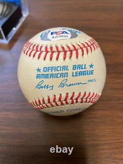 Carl Yastrzemski Signed Official American League Baseball. PSA/DNA COA