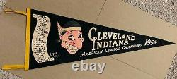 Cleveland Indians 1954 Vintage MLB FULL SIZE pennant American League Champs